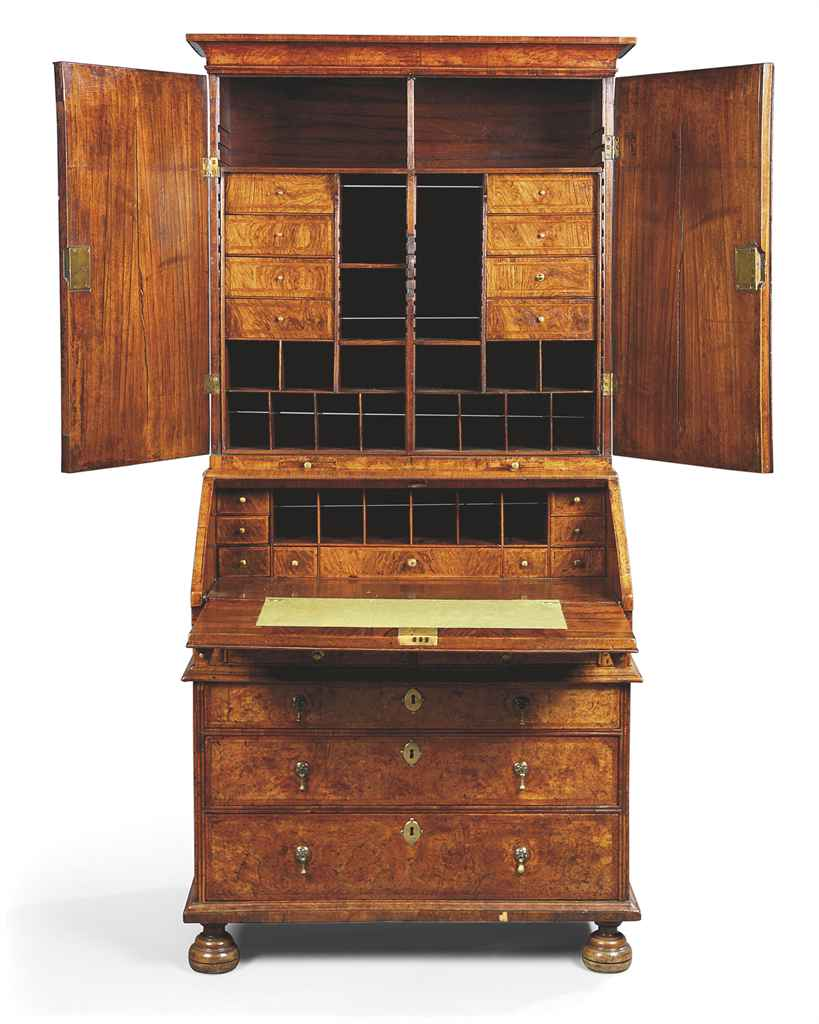 a queen anne walnut bureau cabinet circa 1710 20 christie 39 s. Black Bedroom Furniture Sets. Home Design Ideas