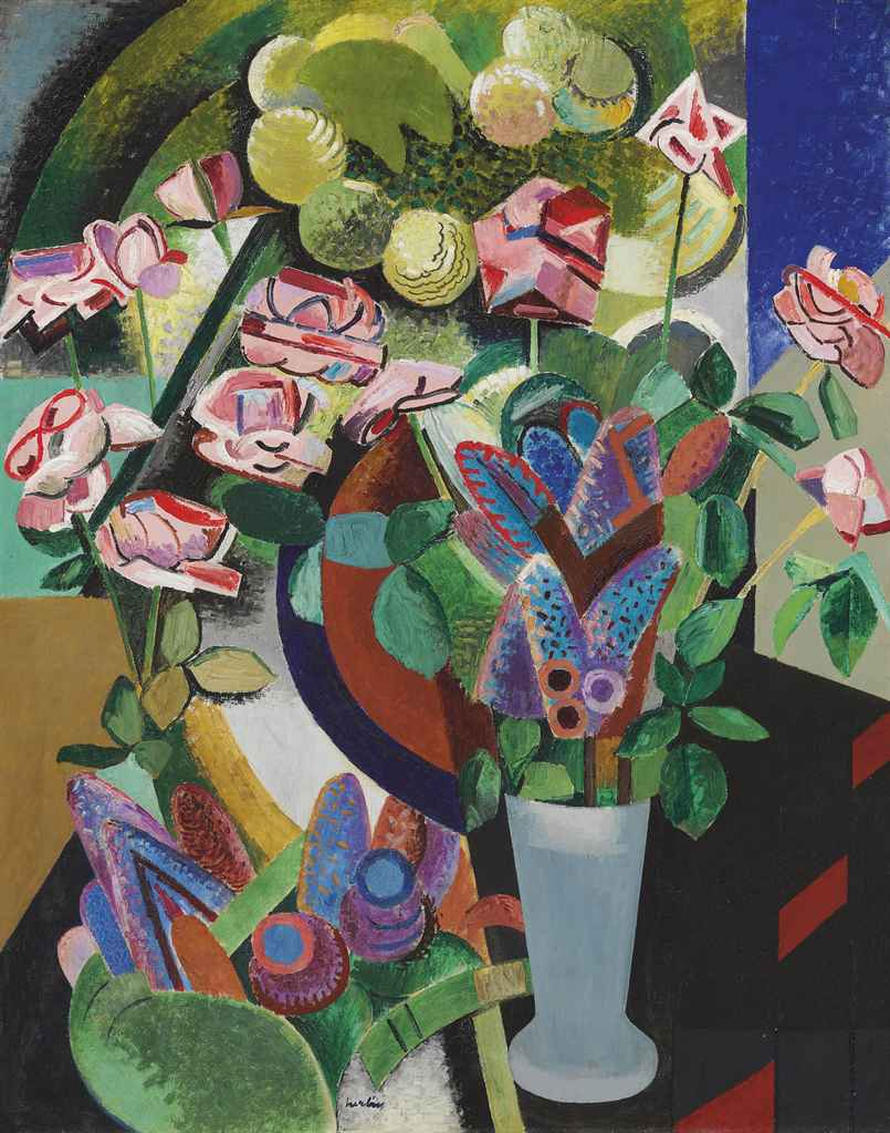 auguste herbin 1882 1960 nature morte au vase de fleurs christie 39 s. Black Bedroom Furniture Sets. Home Design Ideas