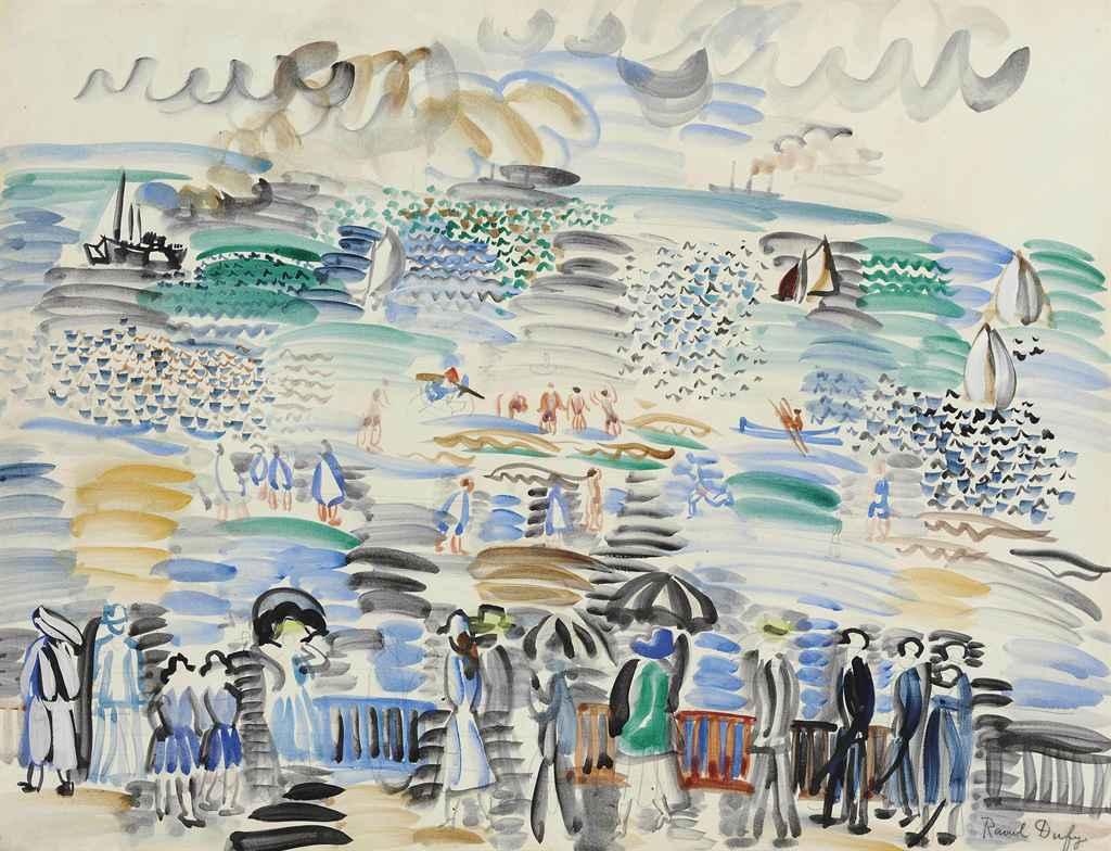 Raoul Dufy 1877 1953 Promenade Au Bord De La Mer