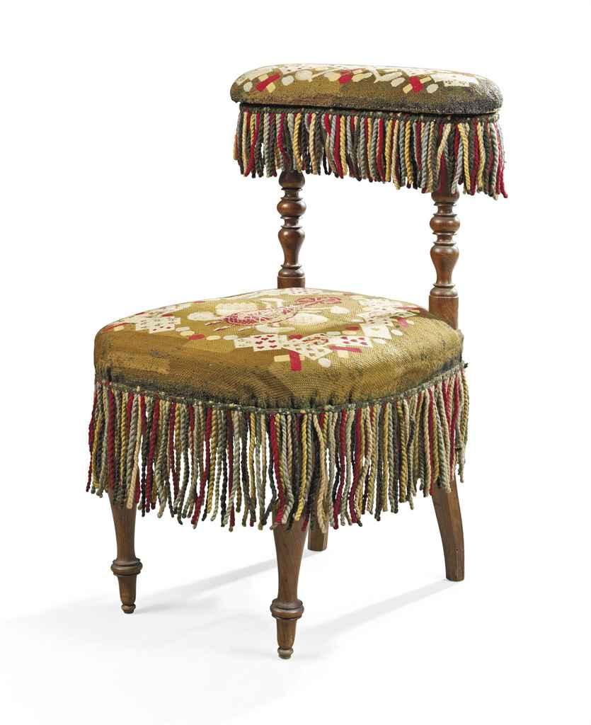 A napoleon iii walnut and voyeuse chaise ponteuse circa for Chaise napoleon