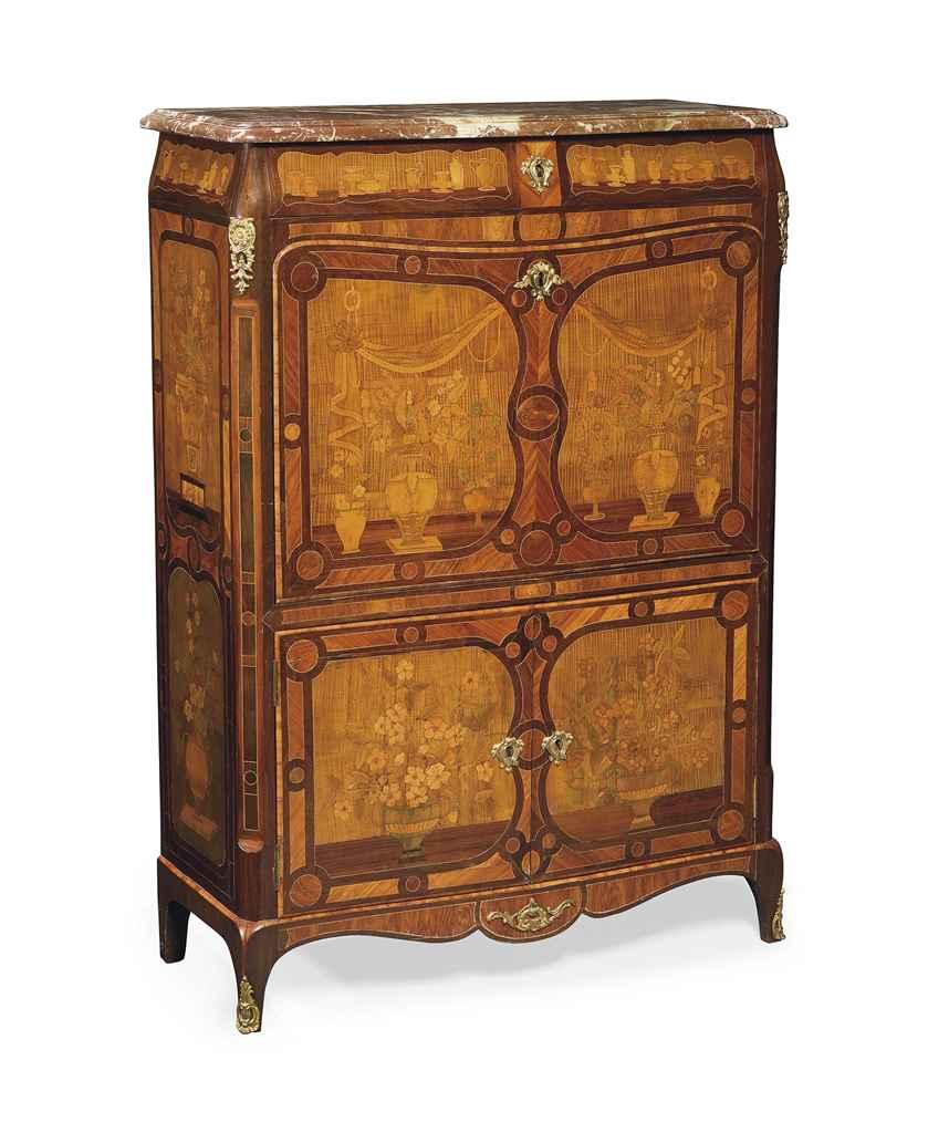 secretaire a abattant d 39 epoque transition estampille de leonard boudin troisieme quart du. Black Bedroom Furniture Sets. Home Design Ideas