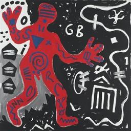 A R Penck B 1939 Auf Dem Weg Nach England On The Road To England 1980s Paintings Christie S