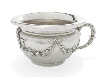 A french silver chamber pot late 19th century maker 39 s for French chamber