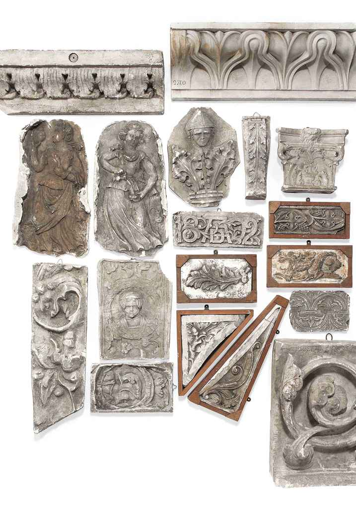Architectural Plaster Mouldings America : A group of plaster architectural mouldings mostly th