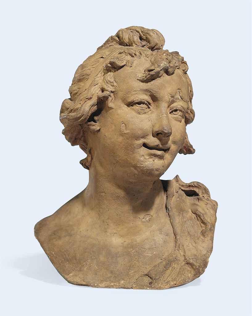 maquette en terre cuite representant un buste de femme au chignon d 39 apres aime jules dalou. Black Bedroom Furniture Sets. Home Design Ideas