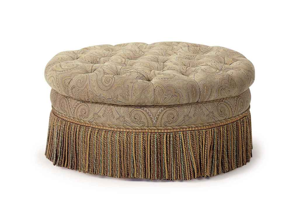a paisley upholstered circular pouf late 20th century christie 39 s. Black Bedroom Furniture Sets. Home Design Ideas