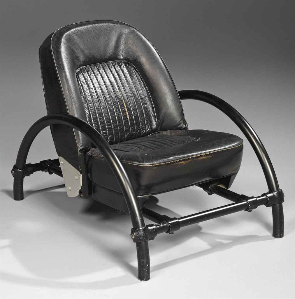 a ron arad b 1951 metal and leather 39 rover 39 chair circa 1985 christie 39 s. Black Bedroom Furniture Sets. Home Design Ideas