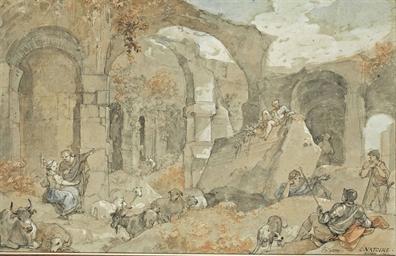 Charles joseph natoire nimes 1700 1770 castel gandolfo for Bergers interieur