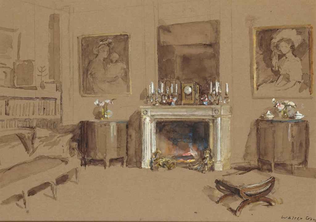 walter gay hingham 1856 1937 dammarie les lys feu de chemin e dans un int rieur christie 39 s. Black Bedroom Furniture Sets. Home Design Ideas