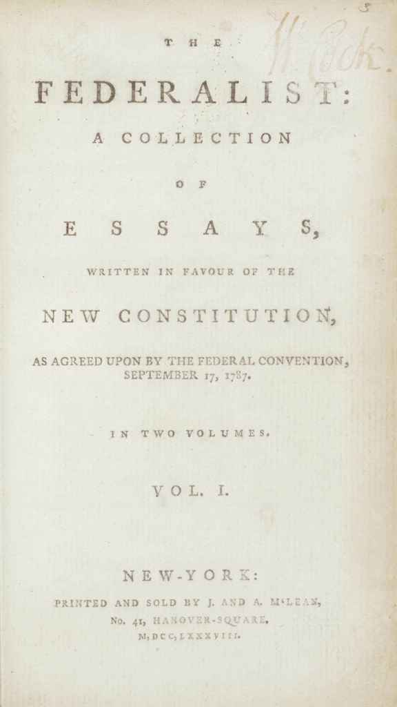 essays written by hamilton madison and jay Known before the twentieth century simply as the federalist, the federalist papers were a series of eighty-five essays written by james madison, alexander hamilton, and john jay under the pseudonym publius the essays were written between october 1787 and august 1788, and were intended to build.
