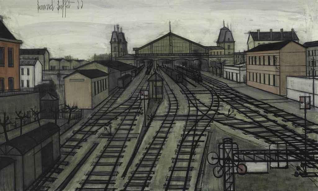 Bernard Buffet (1928-1999) , La Gare | Christie's
