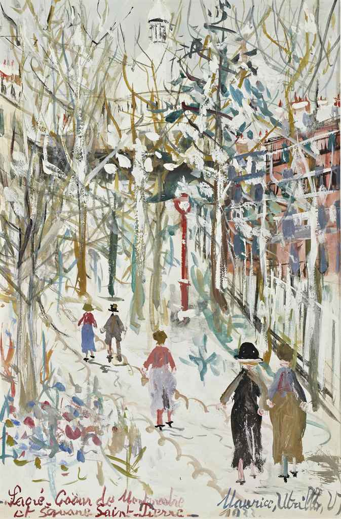Maurice utrillo 1883 1955 sacr coeur de montmartre et - Bureau de change rue montmartre ...