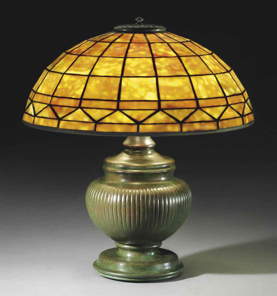 Colonial Table Lamps : Tiffany studios a colonial table lamp circa