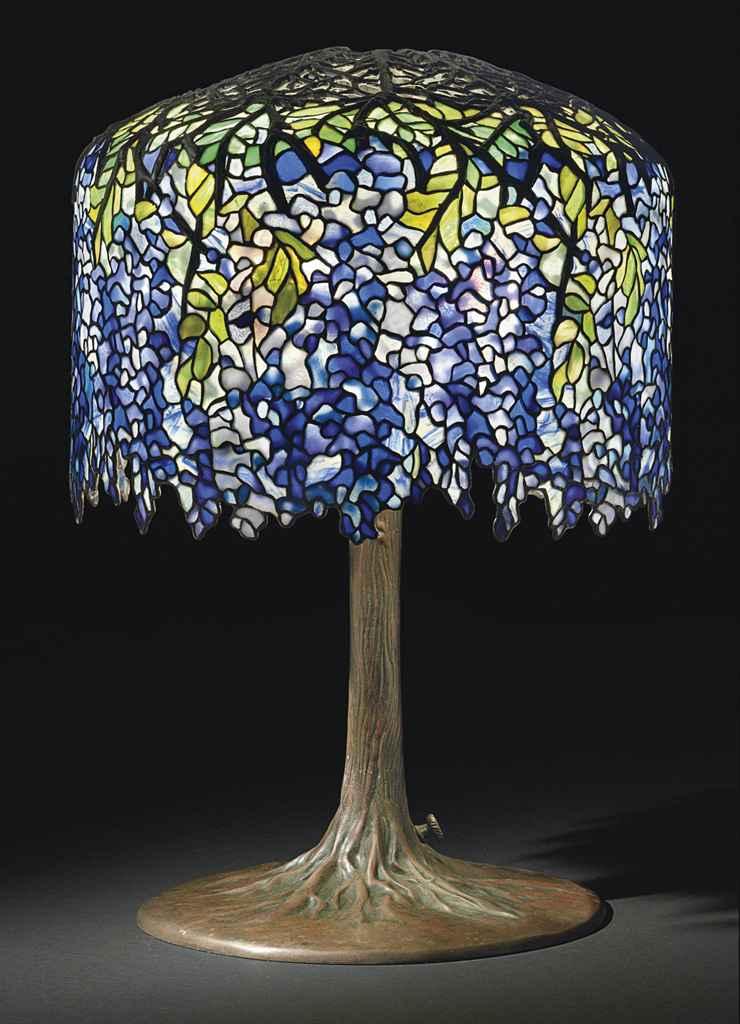 Tiffany Studios A Wisteria Table Lamp Circa 1910