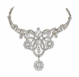 An Antique Diamond Necklace Tiara Christie S