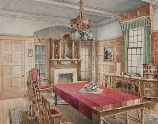 English School 20th Century An Interior Of A Dining