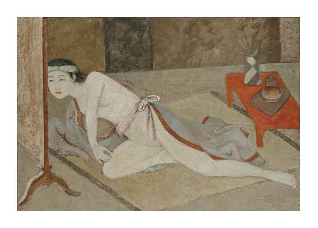 balthus 1908 2001 japonaise la table rouge christie 39 s. Black Bedroom Furniture Sets. Home Design Ideas