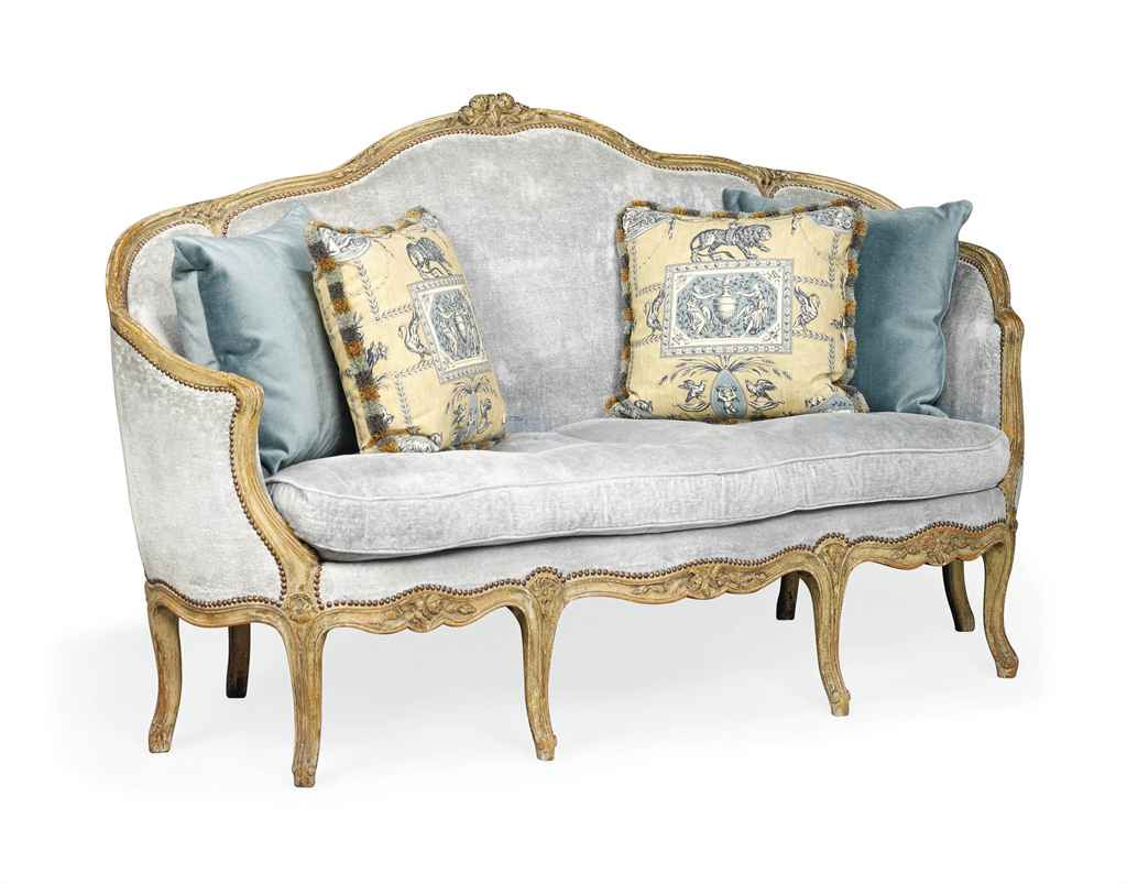 a french painted canape of louis xv style 19th century christie 39 s. Black Bedroom Furniture Sets. Home Design Ideas