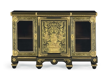 a louis xiv ormolu mounted ebony ebonized brass simulated tortoiseshell and boulle marquetry. Black Bedroom Furniture Sets. Home Design Ideas