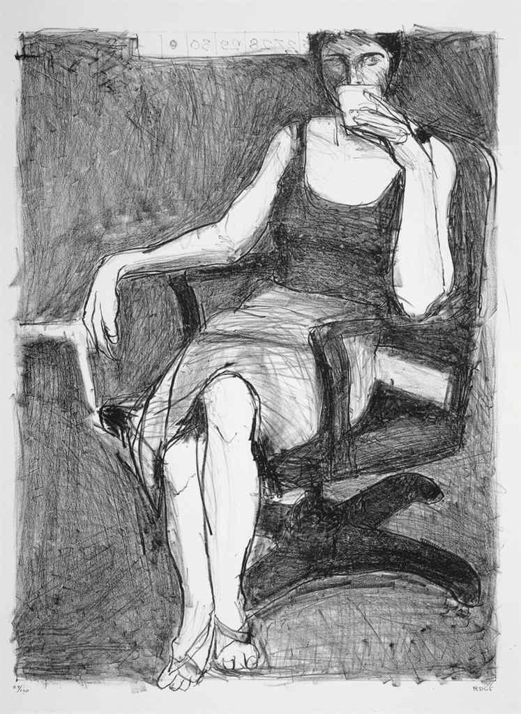 Richard Diebenkorn Woman Drinking Coffee