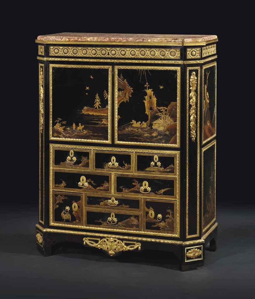 secretaire a abattant d 39 epoque louis xvi estampille de martin carlin vers 1780 christie 39 s. Black Bedroom Furniture Sets. Home Design Ideas
