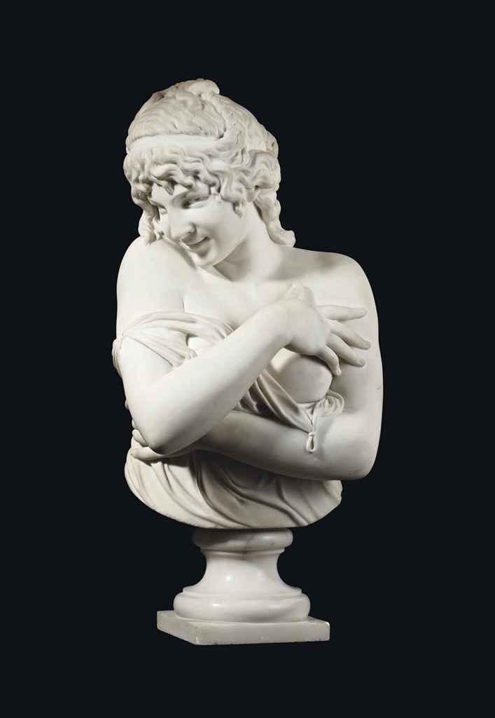 buste en marbre de carrare representant une femme dans. Black Bedroom Furniture Sets. Home Design Ideas