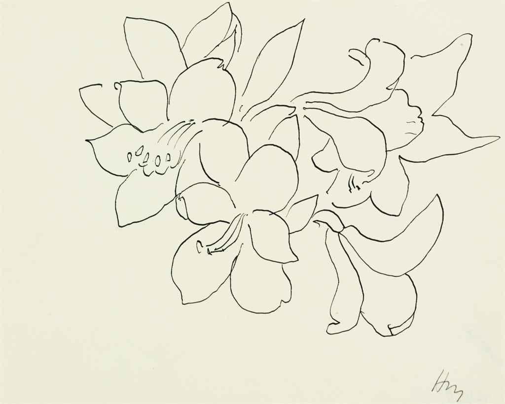 Matisse Contour Line Drawing : Henri matisse fleurs et feuilles christie s