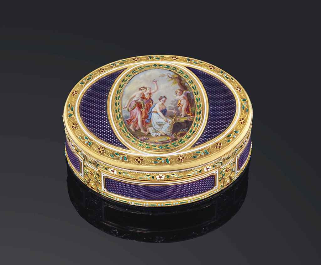 a german enamelled gold snuff box probably hanau circa 1790 christie 39 s. Black Bedroom Furniture Sets. Home Design Ideas