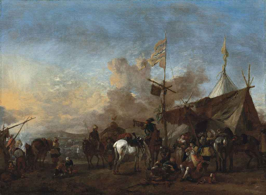 philips wouwerman haarlem 1619 1668 soldiers and other