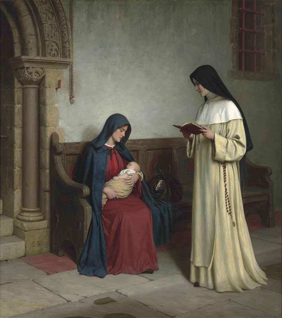 Maternity Painting By Edmund Blair Leighton