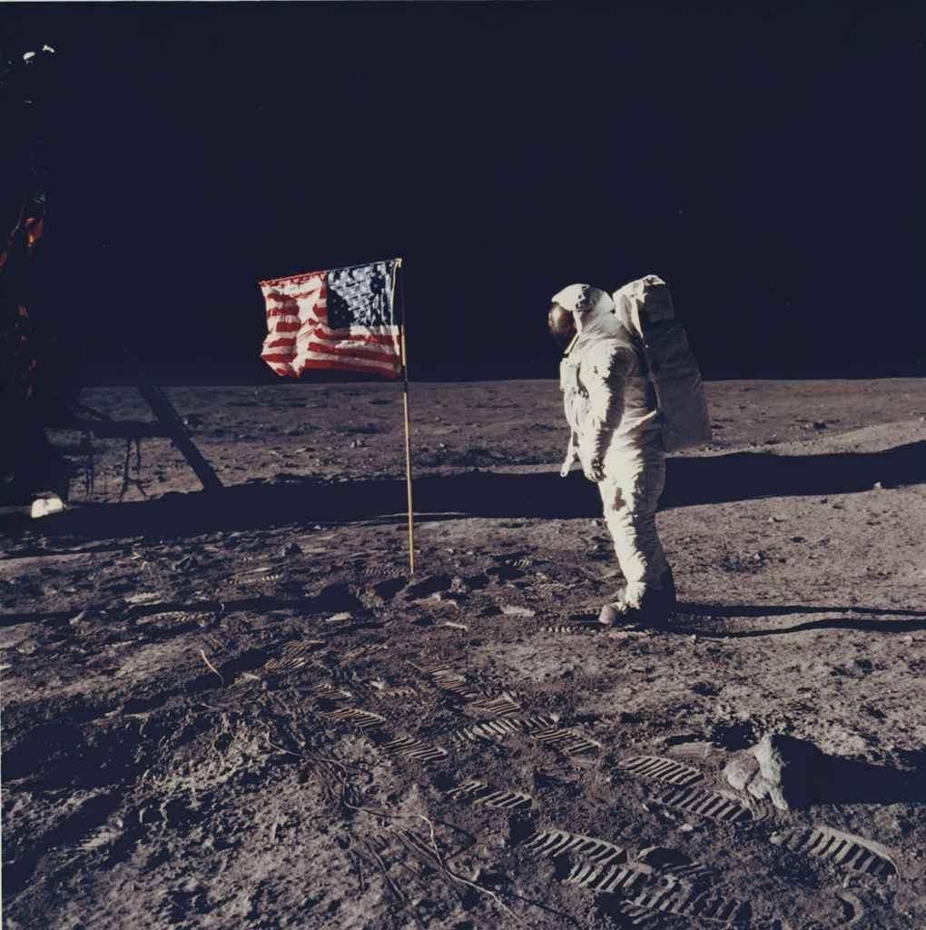 NASA , Apollo 11 Mission, Astronaut on Moon Surface, 1969 ...