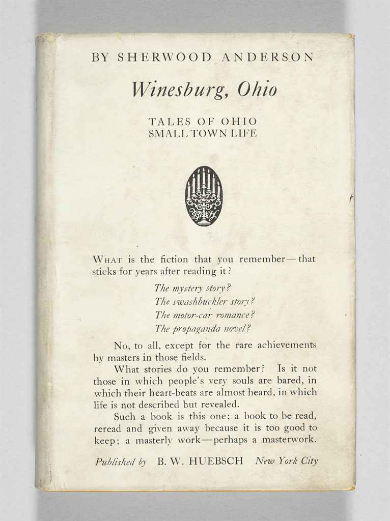 winesburg ohio essays Anderson's best-known work is winesburg, ohio (1919), a collection of  he  published numerous novels and collections of stories and essays in the next two .