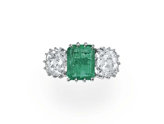 a and emerald three ring christie s