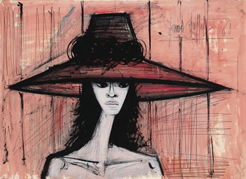 bernard buffet 1928 1999 jeune femme au grand chapeau christie 39 s. Black Bedroom Furniture Sets. Home Design Ideas