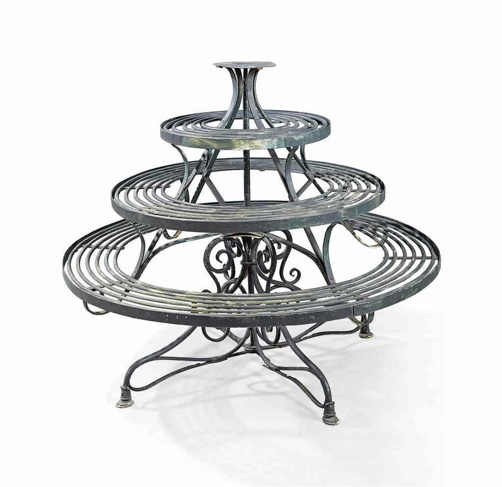 a victorian painted wrought iron revolving plant stand circa 1880 christie 39 s. Black Bedroom Furniture Sets. Home Design Ideas