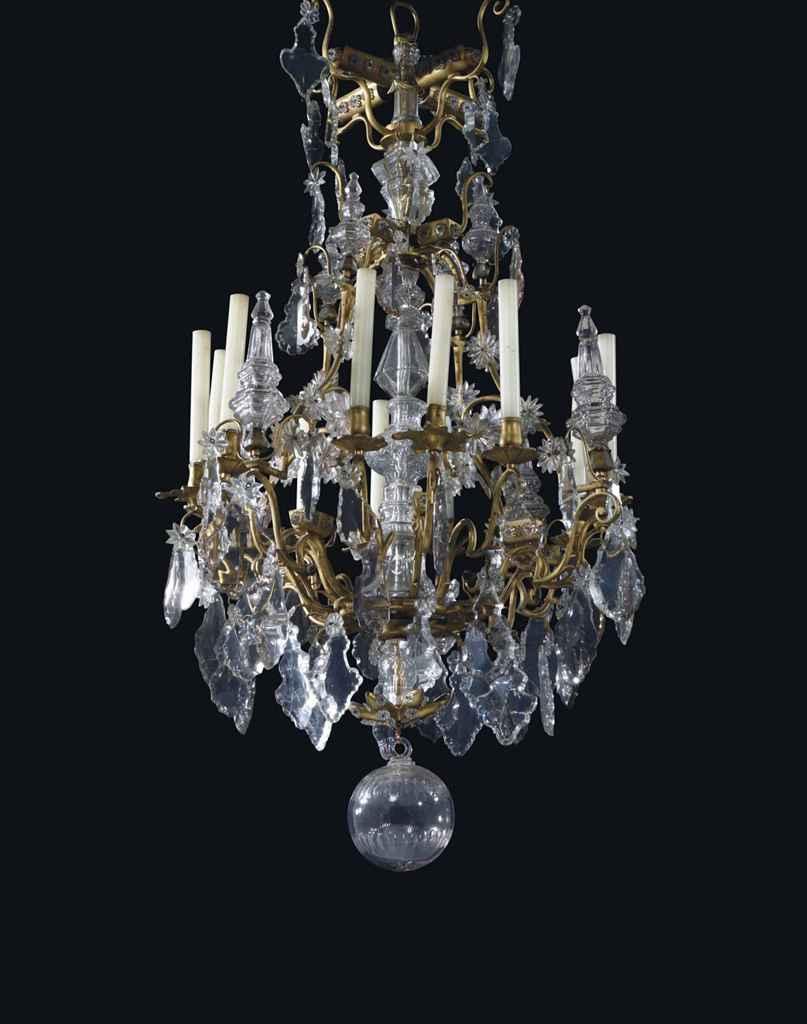 lustre cage de style louis xv xixeme siecle christie 39 s. Black Bedroom Furniture Sets. Home Design Ideas