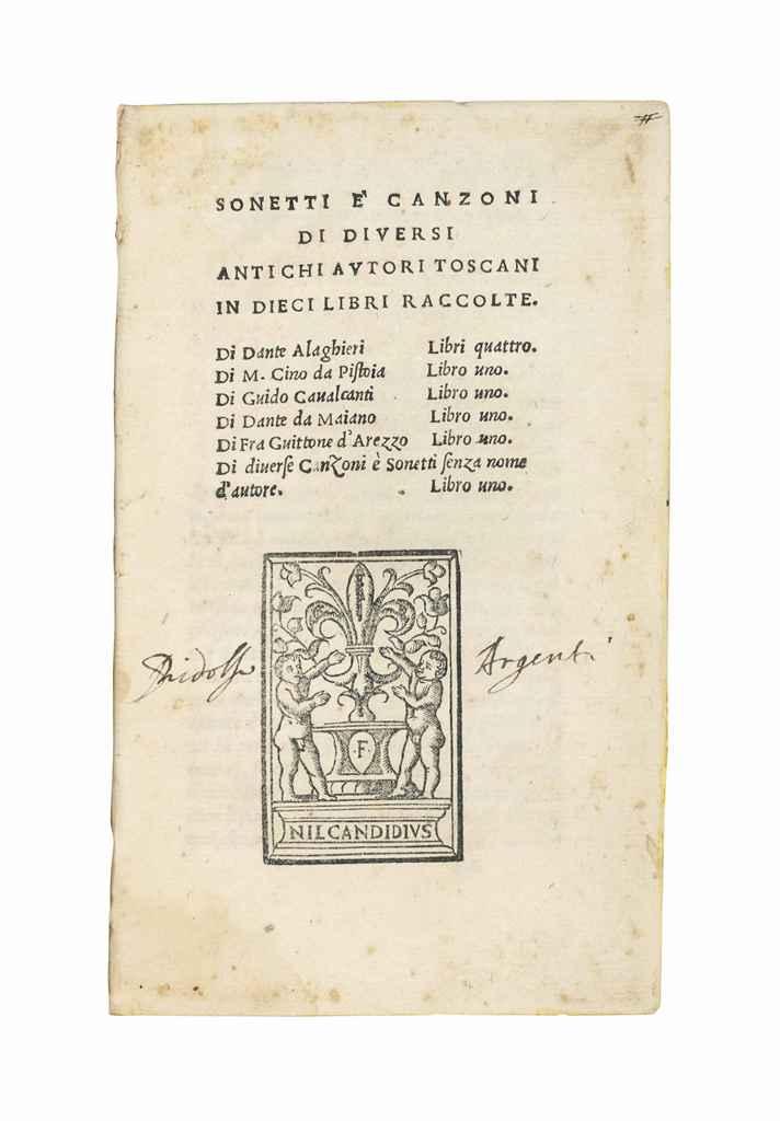 Examples List on Dante Alighieri