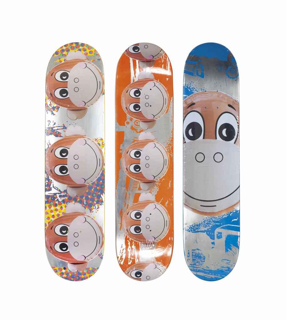 Jeff Koons American B 1955 Monkey Train Skate Decks