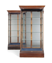 kitchen glass cabinets a pair of mahogany display cabinets of george 1766