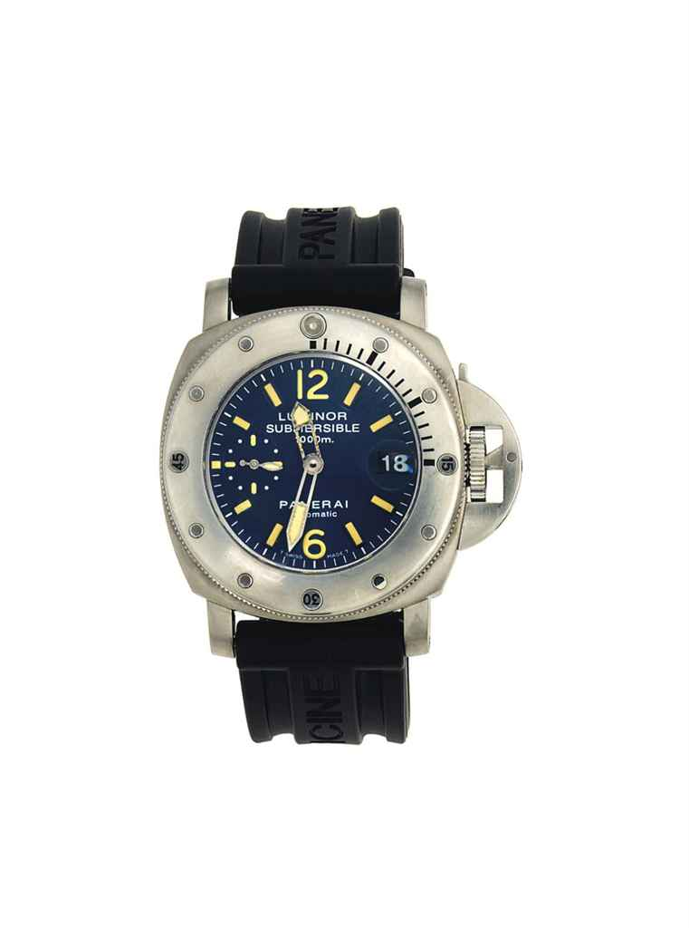 A stainless steel limited edition automatic divers watch - Panerai dive watch ...