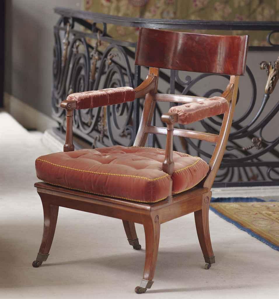 fauteuil de bureau d 39 epoque directoire attribue a georges jacob fin du xviiieme siecle. Black Bedroom Furniture Sets. Home Design Ideas