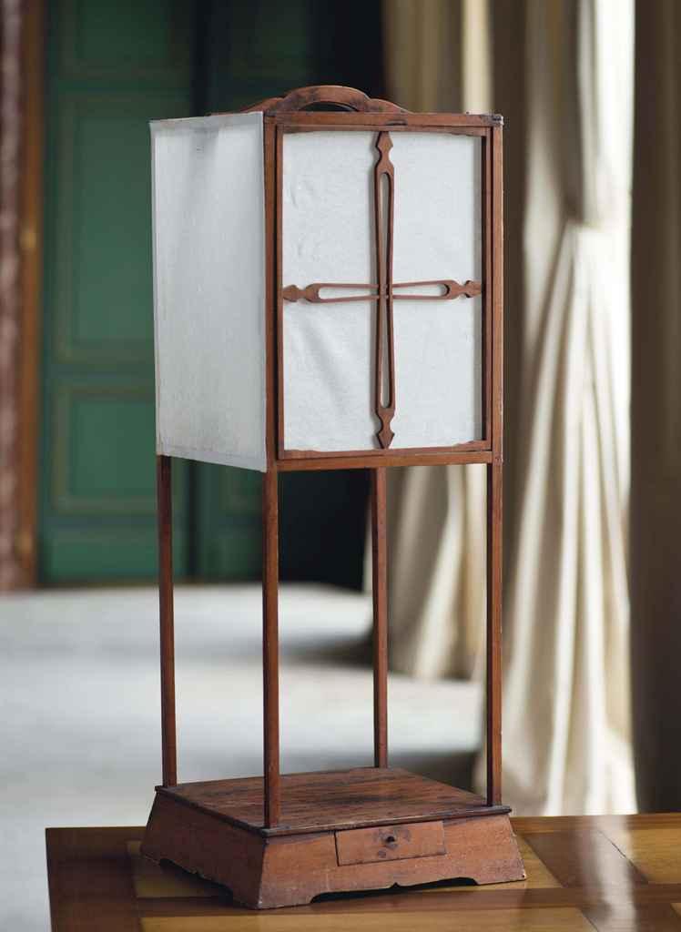Lanterne en bois et papier japon xxeme siecle christie 39 s - Lanterne en bois ...