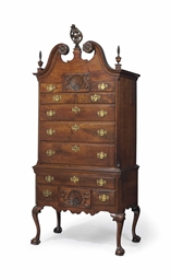 A chippendale walnut high chest of drawers philadelphia for Furniture r us philadelphia