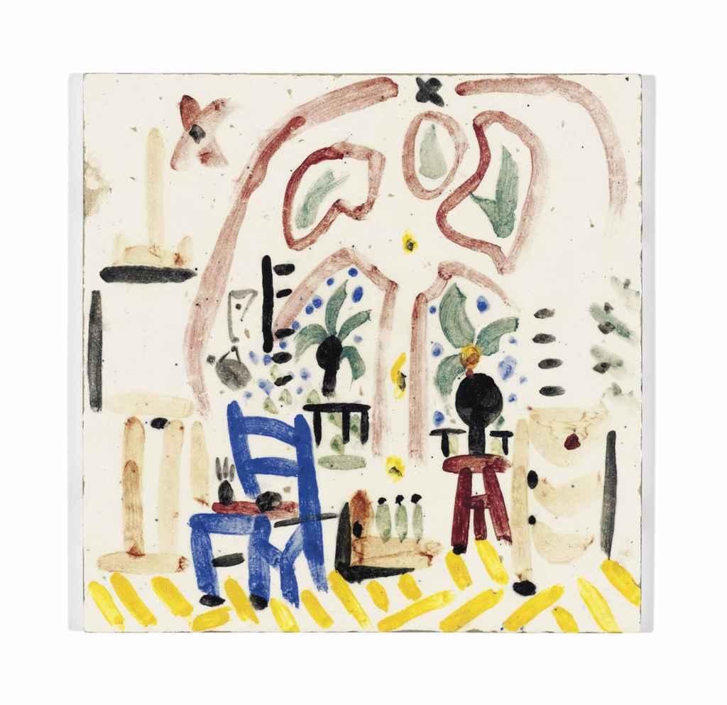 Pablo picasso 1881 1973 la fenetre de l 39 atelier la for Fenetre atelier