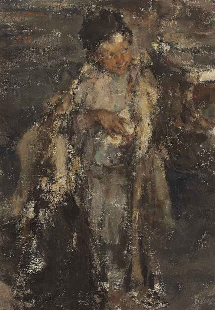 Nicolai fechin 1881 1955 little shepherd boy christie 39 s for Nicolai fechin paintings for sale