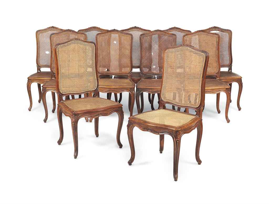 A Set Of Eleven Walnut Side Chairs In The Louis Xiv Style First Half 20th Century Christie 39 S