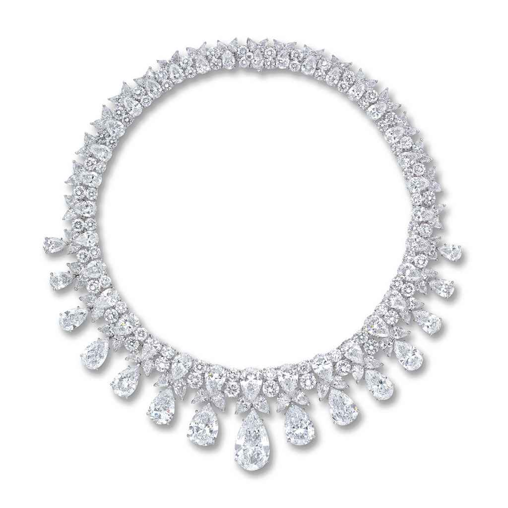 a magnificent diamond necklace  by harry winston