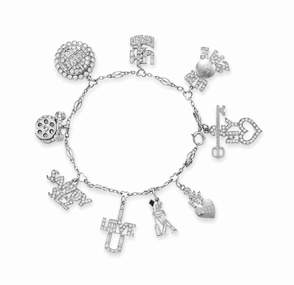 a diamond and multigem charm bracelet christies