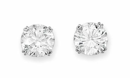 Harry Winston Diamond Earrings Price