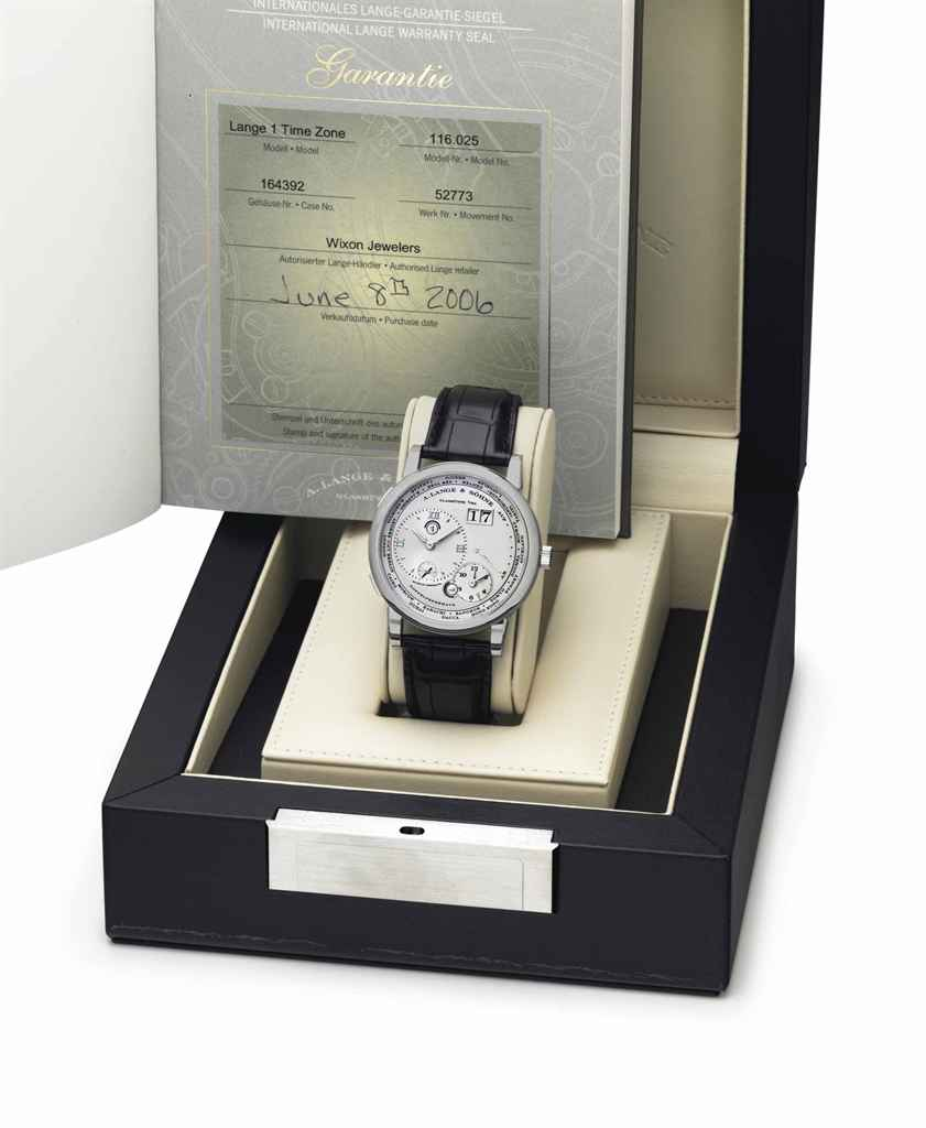 Day Timer Platinum: A. Lange & Söhne. A Very Fine And Rare Platinum Twin